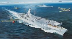 German Navy Aircraft Carrier DKM Peter Strasser