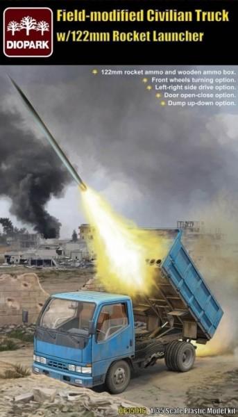 Filed-Modified Civilian Truck w/122mm Rocket Launcher