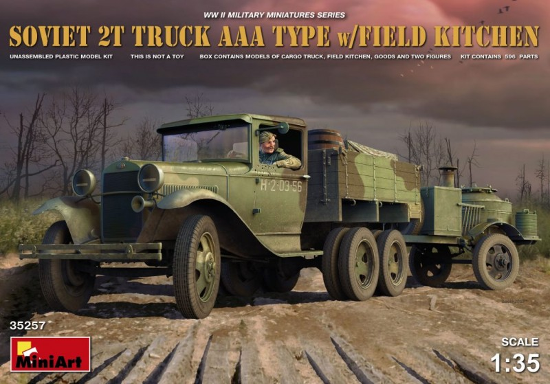 Soviet 2 t Truck AAA Type w/Field Kitchen