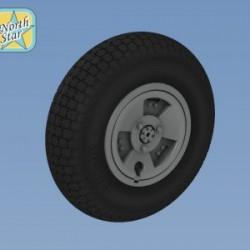 Spitfire MkXVI – XXII wheels set 3 spoke, Rib tire No Mask series