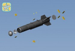 Set of two KAB-500KR guided and corrected Bomb, resin, PE parts, decal