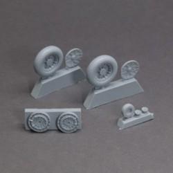 Vough F-4U Corsair resin wheels set – No Mask series