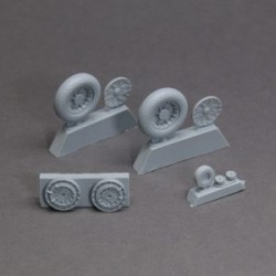 Vough F-4U Corsair resin wheels set – No Mask series