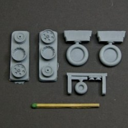 Fw-190 A/F/G wheels, Perforated early main disk, smooth main tyre – No mask series