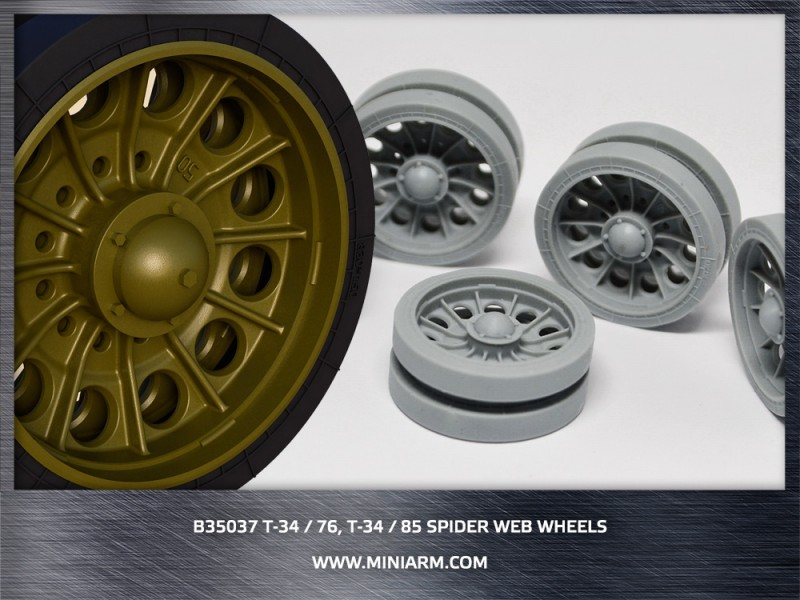 T-34/76,T-34/85 Spider web wheels (late version) ( new edition 2017)