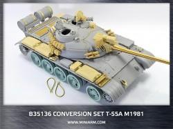 Conversion set for Т-55A m1975, gun barrel (metal)+ PE parts