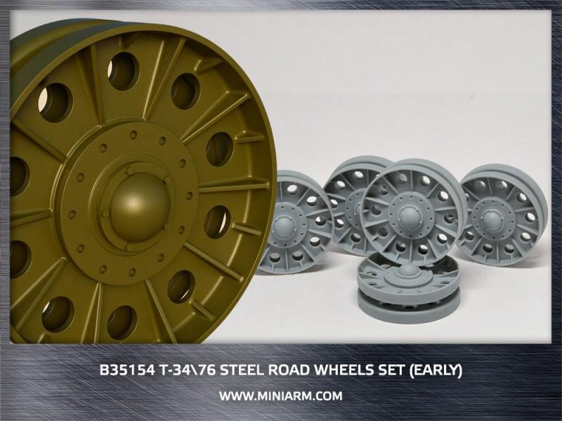 T-34/76 Steel road wheels set (early version)