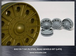 T-34/76 Steel road wheels set (late version)