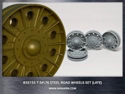 T-34/76 Steel road wheels set (late version)