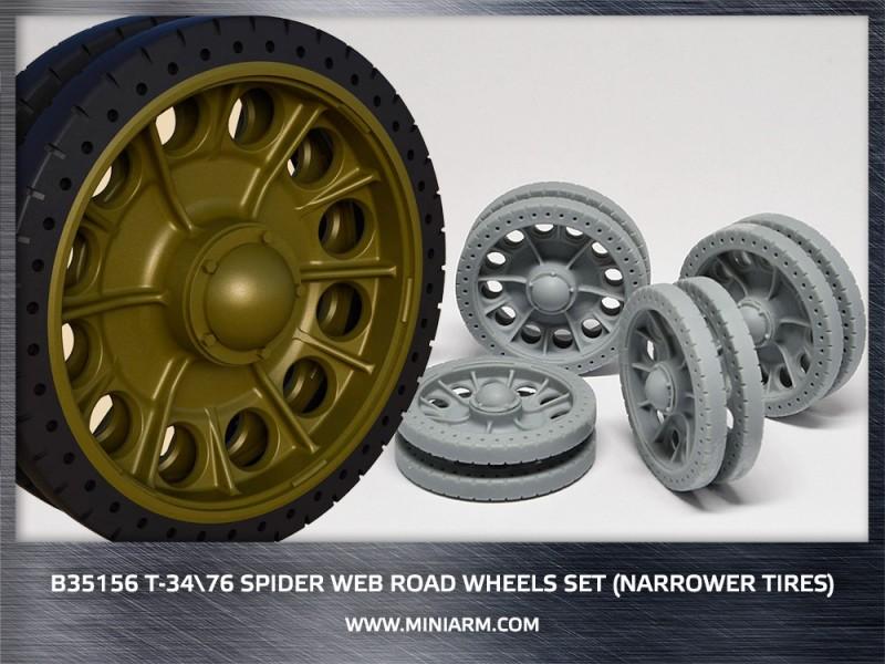 T-34/76 Spider web road wheels set (narrower tires)