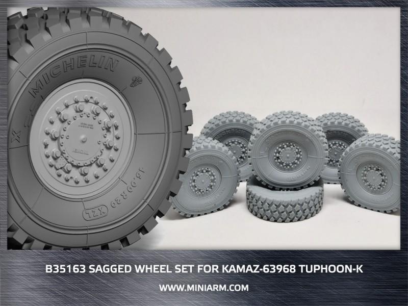 Sagged wheel set for Kamaz-63968 Typhoon-K (6pcs)