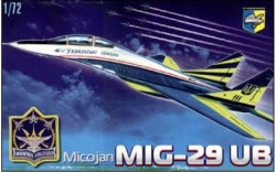 MiG-29 UB Soviet training battle fighter