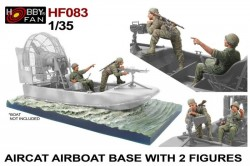 Aircat Airboat Base with 2 Figures (the boat is not included)