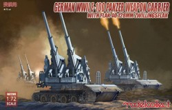 German WWII E-100 panzer weapon carrier with FLAK 40 128MM ZWILLINGSFLAK