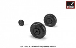Junkers Ju 188 wheels w/ weighted tires