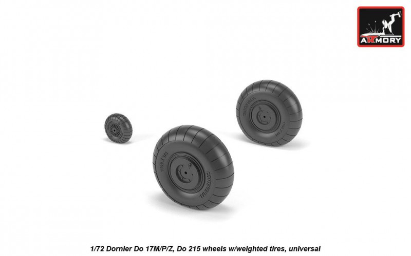 Dornier Do 17M/P/Z, Do 215 wheels w/weighted tires