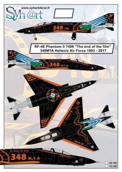 "RF-4E Phantom II 7499 ""The end of the Film"" Hellenic AF 1953-2017"