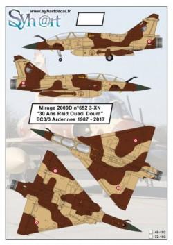 Mirage 2000D #652 3-XN ''30 years Raid Ouadi Doum'' EC 3-3 Ardennes 2017