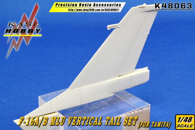 F-16A/B MLU Vertical Tail Set (Tamiya)