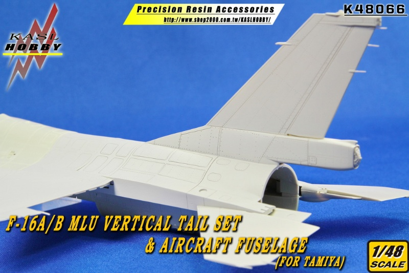 F-16A/B MLU Vertical Tail Set & Aircraft Fuselag