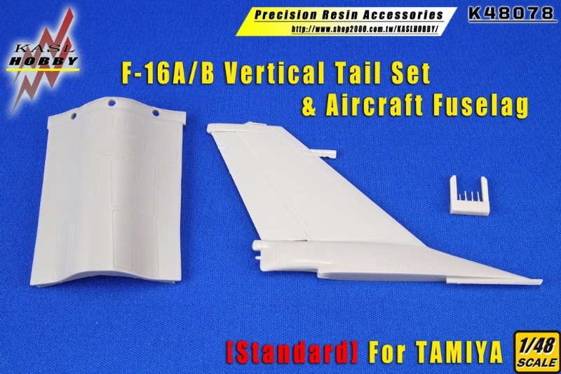 F-16A/B Vertical Tail Set & Aircraft Fuselag [Standard]