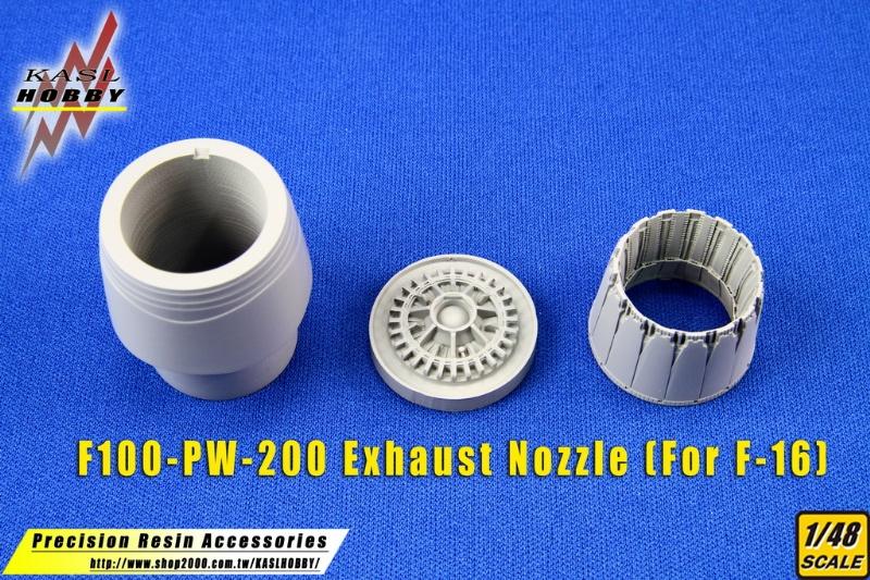 F-16 F100-PW-200/220 Exhaust Nozzle (Hasegawa)