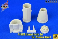 F-20A Exbaust Nozzles(Recessed rivets)