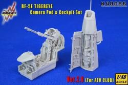 RF-5E TIGEREYE Camera Pod & Cockpit Set Ver.2.0