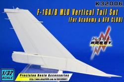 F-16A/B MLU Vertical Tail Set (Academy)