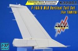 F-16A/B MLU Vertical Tail Set (Tamiya)
