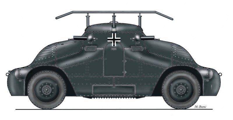 "ŠKODA PA-II ""Želva"" German radio version version full resin kit"