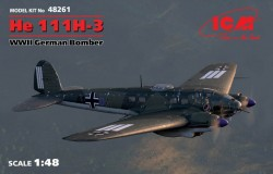 He 111H-3 WWII German Bomber (100% new molds)