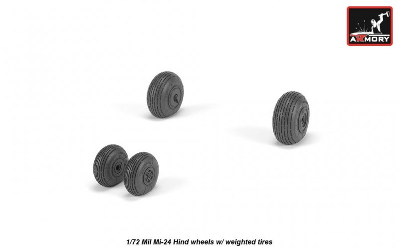 Mil Mi-24 Hind wheels w/ weighted tires