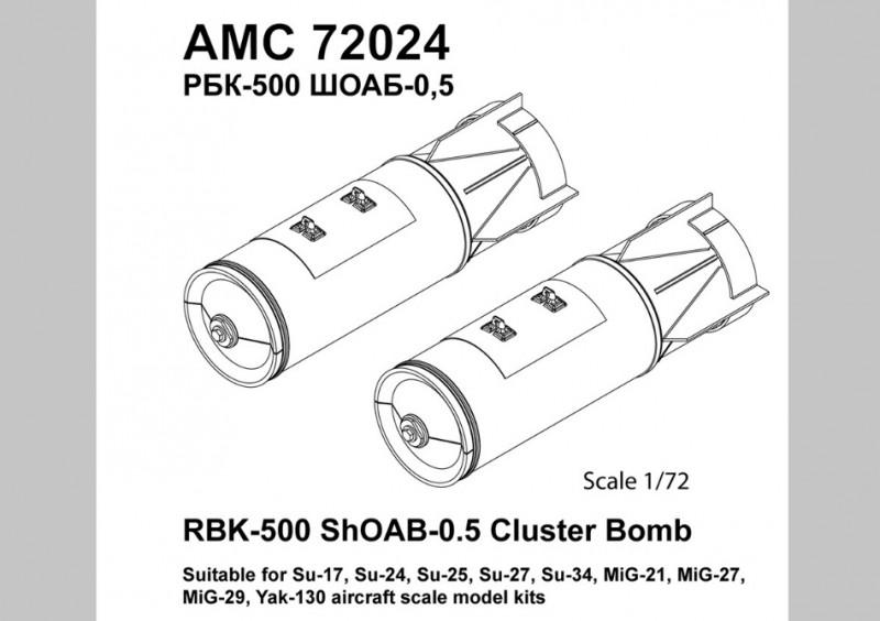 RBK-500 ShOAB-0.5 Cluster Bomb