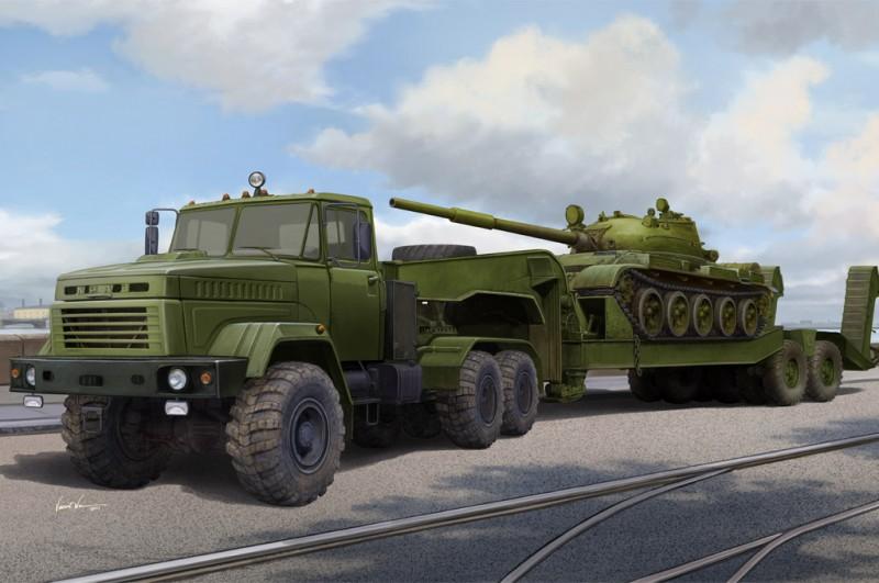 Ukraine KrAZ-6446 Tractor w.MAZ/ChMZAP- 5247G semitrailer