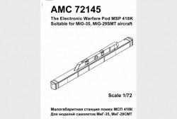 The electronic warfare pod MSP-418K, Mig-35, Mig-29SMT