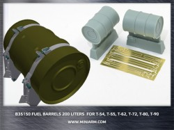 Fuel barrels 200 liters (2pcs)  + PE Parts