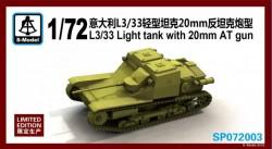 L3/33 Light tank with 20mm AT gun