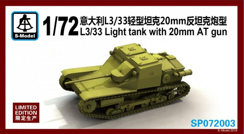 L3/33 Light tank with 20mm AT gun