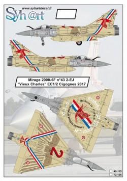 """Mirage 2000-5F n°43 2-EJ """"Vieux Charles"""" EC 1/2 Cigognes 2017"""