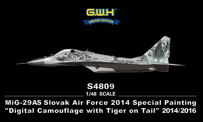 """MiG-29AS Slovak Air Force 2014 Special Painting""""Digital Camouflage w.Tiger"""