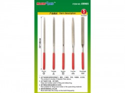Master Tools: Assorted diamond files set (Grit size150# 3x140mm)