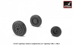 """EE """"Lightning-II"""" early type wheels w/ weighted tires, for F.Mk.1 - F.Mk.2"""