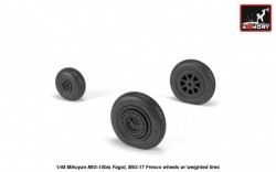 Mikoyan MiG-15bis Fagot (late) / MiG-17 Fresco wheels w/ weighted tires