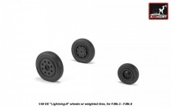 """EE """"Lightning-II"""" late type wheels w/ weighted tires, for F.Mk.3 - F.Mk.6"""