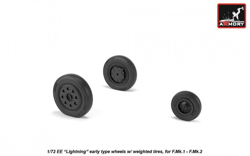 "EE ""Lightning-II"" wheels w/ weighted tires, early"