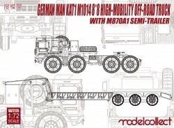 German MAN KAT1M1014 8*8 HIGH-Mobility off-road truck with M870A1 semi-trailer