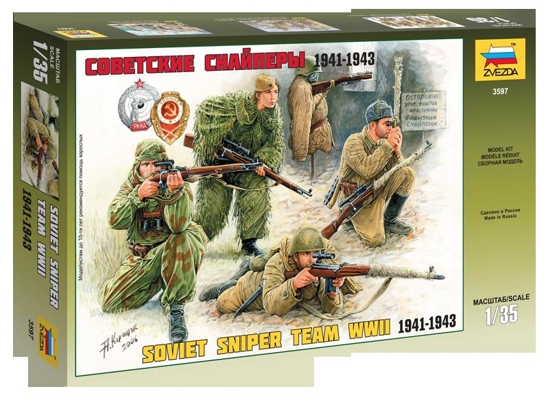 Soviet Sniper Team WWII