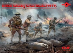 British Infantry in Gas Masks(1917)4 Figures