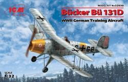 Bücker Bü 131D,WWII German Training Aircraft(100% new molds)